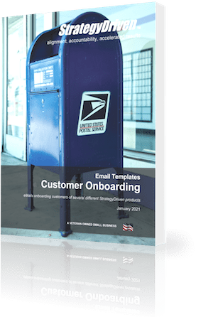 StrategyDriven Marketing and Sales Template | StrategyDriven's Customer Onboarding eMail Templates