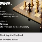 StrategyDriven Podcast | The Integrity Dividend | Tony Simons